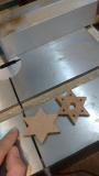 Sapele Stars Split on Band Saw