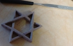 Sapele Jewish Star and File