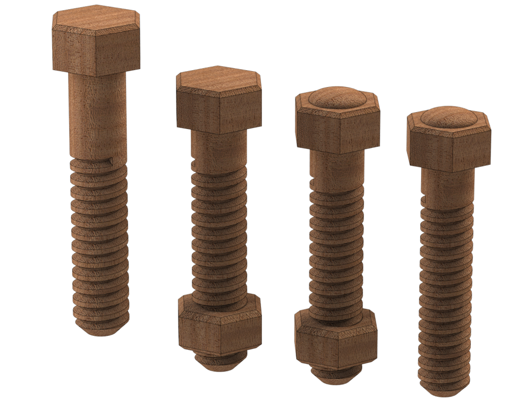Threaded Wood Bolt Styles